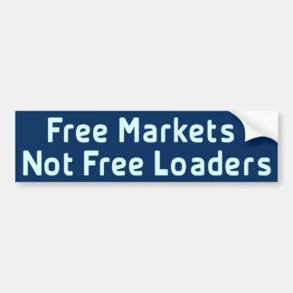 Los mercados libres no liberan a la pegatina para