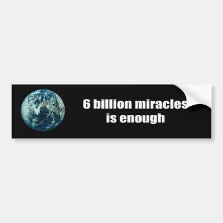 Los milagros de 6 mil millones son bastantes pegatina para coche