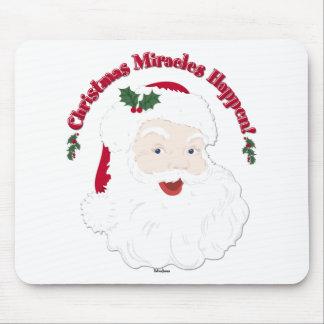 ¡Los milagros del navidad de Santa del vintage suc Alfombrilla De Ratón