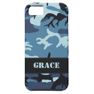 Los militares azules adaptables camuflan iPhone 5 Case-Mate funda