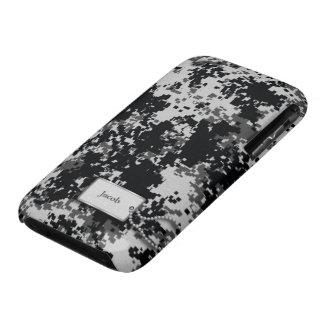 Los militares blancos y negros de Digitaces camufl Case-Mate iPhone 3 Cárcasa