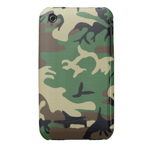 Los militares camuflan apenas el iPhone 3G/3G Cas  Case-Mate iPhone 3 Protectores