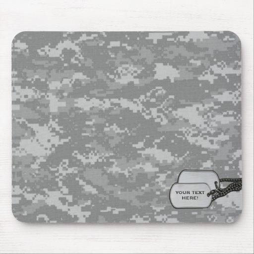 Los militares camuflan con las etiquetas de la ide tapete de ratón