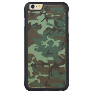 Los militares camuflan funda para iPhone 6 plus de carved® de nogal