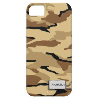 Los militares de la arena del desierto camuflan funda para iPhone 5 barely there