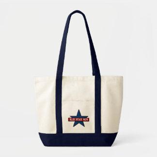 Los militares de la mamá de la estrella azul bolsa tela impulso