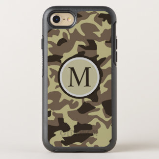 Los militares del arbolado camuflan el monograma funda OtterBox symmetry para iPhone 7