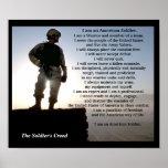 Los militares del credo de los soldados poster