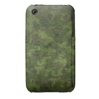 Los militares del verde caqui del Grunge camuflan iPhone 3 Protectores
