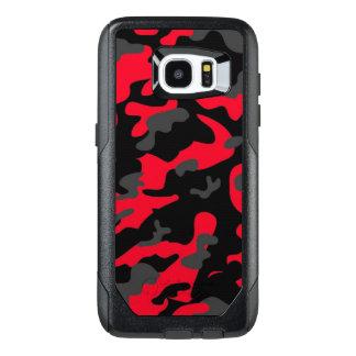 Los militares negros rojos del ejército de Como Funda OtterBox Para Samsung Galaxy S7 Edge