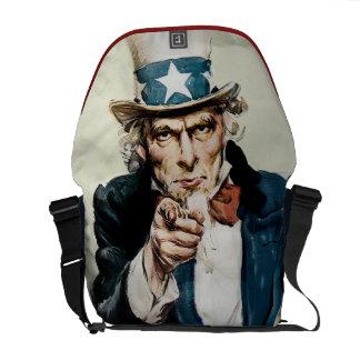 Los militares patrióticos del vintage WW1 reclutan Bolsa De Mensajería
