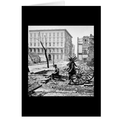 Los molinos contienen en Charleston, SC 1865 Tarjetas