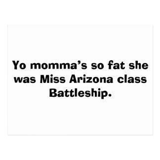 Los momma de Yo tan gordos ella era vagos de la cl Tarjeta Postal