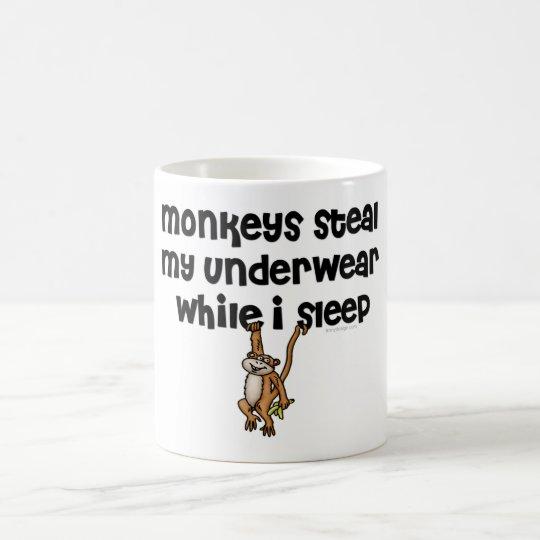 ¡Los monos roban mi ropa interior! Taza De Café