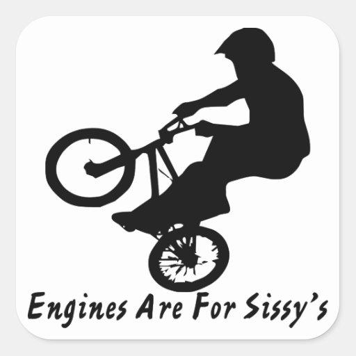 Los motores de BMX están para la mariquita Colcomanias Cuadradases