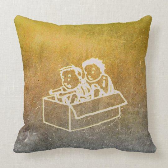 Los muchachos de la pizarra dos en caja Doodles Cojín Decorativo