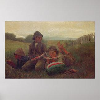 Los muchachos de la sandía, 1876 impresiones