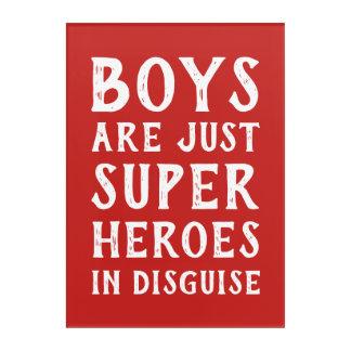 Los muchachos son apenas superhéroe en arte de la