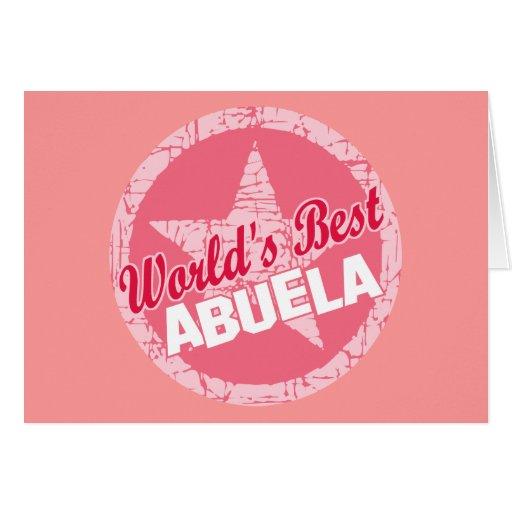 Los mundos el mejor Abuela Felicitaciones