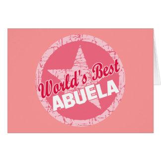 Los mundos el mejor Abuela Tarjeta De Felicitación