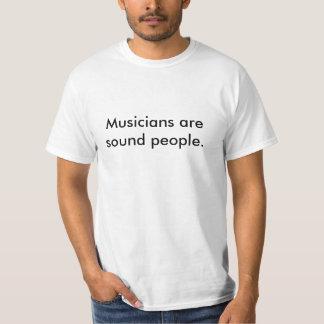 Los músicos son camiseta sana de la gente