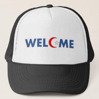 Los musulmanes dan la bienvenida aquí gorra de camionero