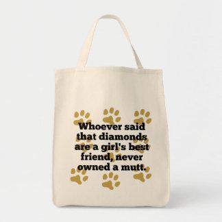 Los Mutts son el mejor amigo de un chica Bolsa Tela Para La Compra