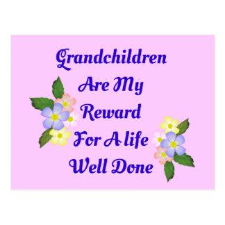 Los nietos son mi recompensa postales