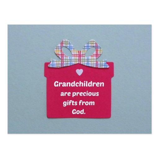 Los nietos son regalos preciosos de dios tarjetas postales