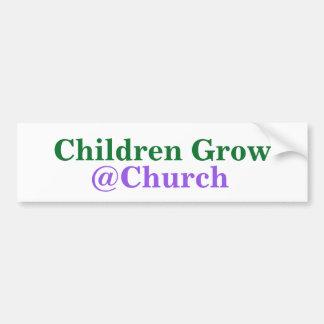 Los niños crecen al pegatina del @Church