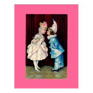 Los niños Curtsy postal/las invitaciones del ~ del