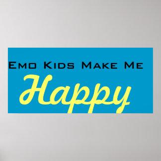Los niños de Emo me hacen feliz Póster