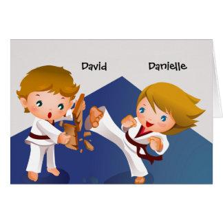Los niños del karate le agradecen Notecard Tarjeta Pequeña