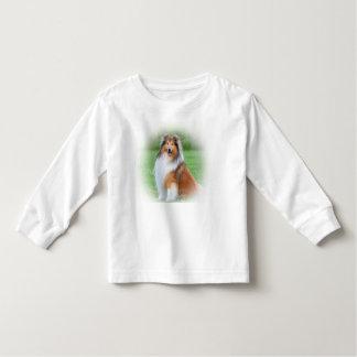 Los niños hermosos del perro del collie camiseta de bebé