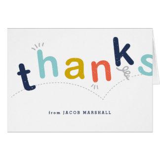 Los niños le agradecen notecard tarjeta pequeña