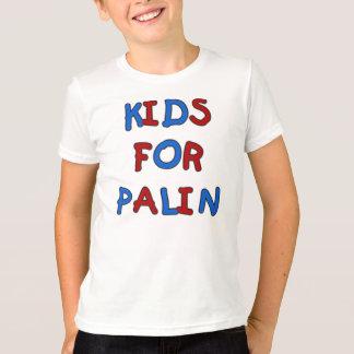 Los niños para Palin embroman la camiseta del