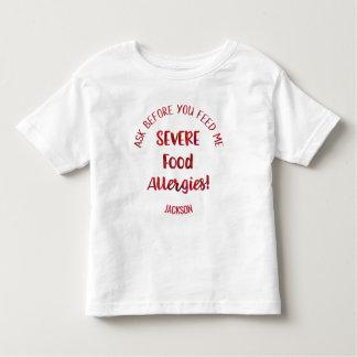 Los niños severos de las alergias alimentarias camiseta de bebé