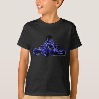Los niños son camisa dura de la raza KART