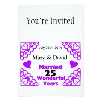 Los nombres de los remolinos de Purple Heart y Invitación 12,7 X 17,8 Cm