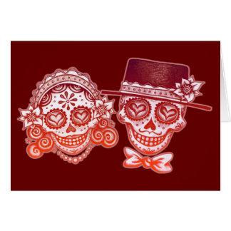 Los Novios Dia de los Muertos Cards Tarjeta De Felicitación