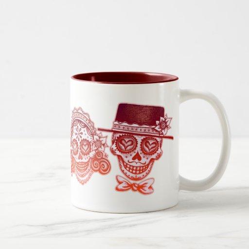 Los Novios - Dia de los Muertos Drinkware Tazas De Café