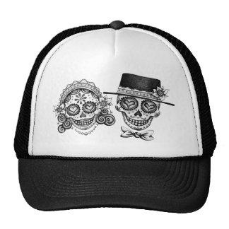 Los Novios - Dia de los Muertos Hat Gorro De Camionero