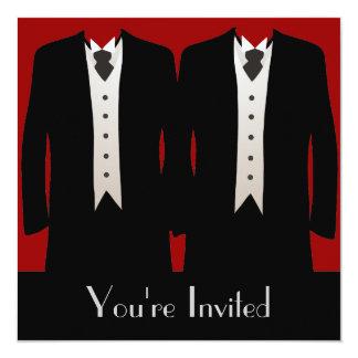 Los novios invitación 13,3 cm x 13,3cm
