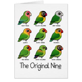 Los nueve originales tarjeta de felicitación