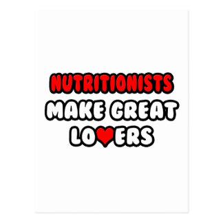 Los nutricionistas hacen a grandes amantes tarjetas postales