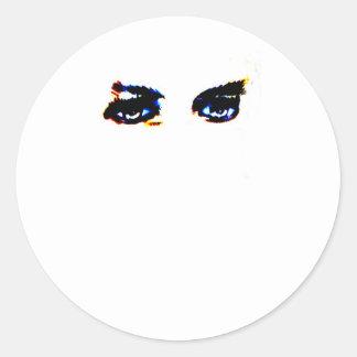 Los ojos de Lugosi Pegatina Redonda