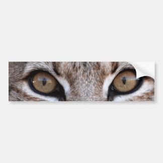 Los ojos de un lince pegatina para coche