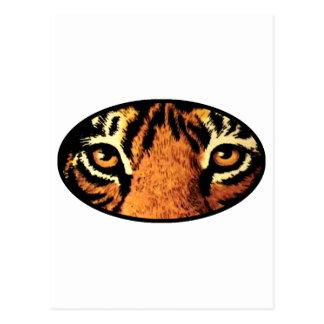 Los ojos del tigre ennegrecen los regalos de postal