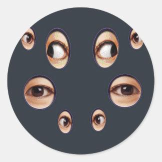 ¡Los ojos lo tienen! Pegatina Redonda
