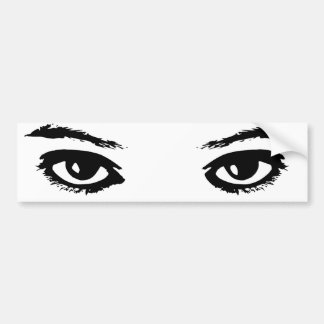 Los ojos lo tienen pegatina para coche